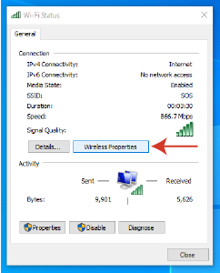 How to Find the Network Security Key on Windows