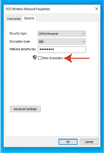 Network Security Key on a Windows Computer