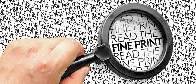 Read the Fine Print - Copier Lease