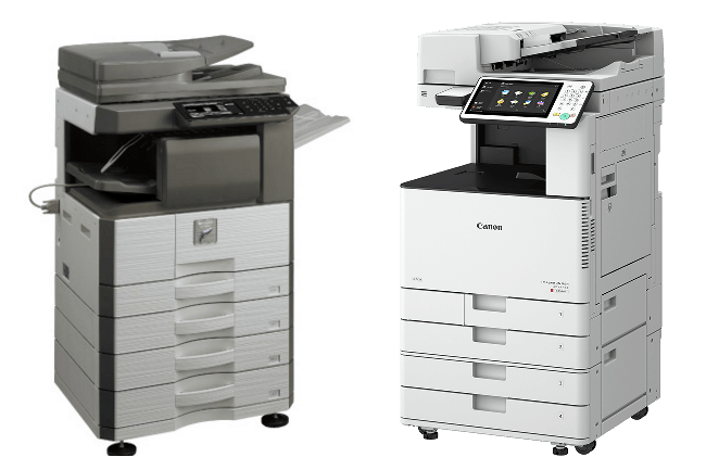 Sharp and Canon Copiers
